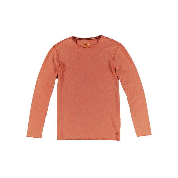 Rundhals-Shirt mit feiner Struktur
