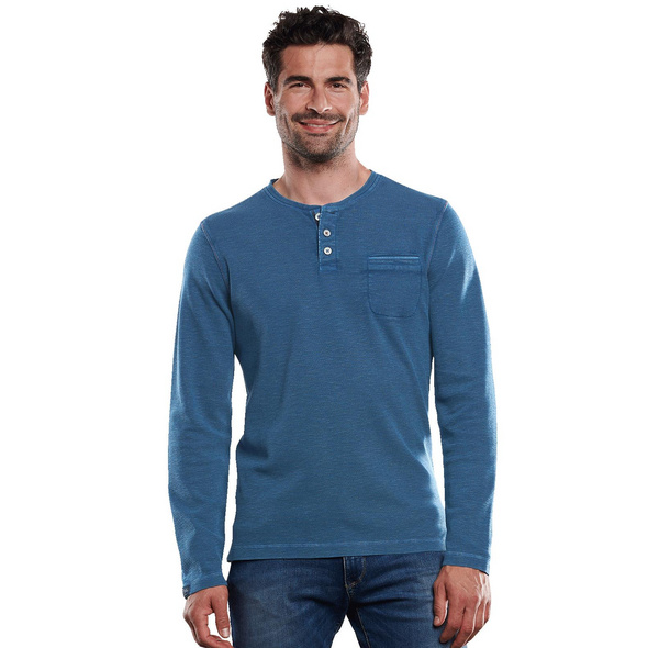 Henley-Shirt authentisch gewaschen