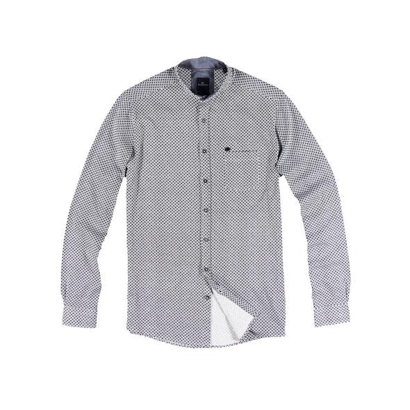 Langarm-Hemd mit All-Over-Print