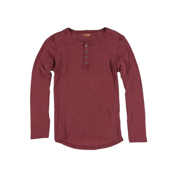 Shirt im Henley-Design