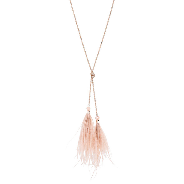 Kette - Pink Feather