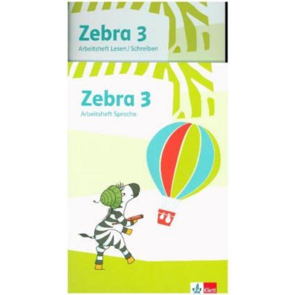 Zebra 3. Paket: Arbeitsheft Lesen Schreiben und Ar