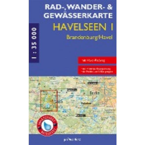 Havelseen 1: Brandenburg   Havel 1 : 35 000 Rad-,