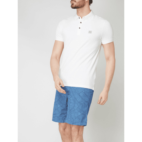 Slim Fit Poloshirt mit Logo-Badge Modell 'Passenger'