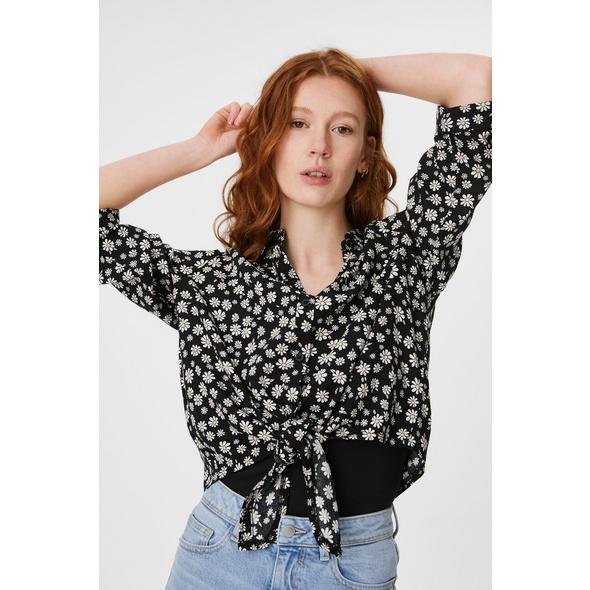 CLOCKHOUSE - Bluse mit Knotendetail