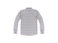 Langarm-Hemd mit Minimalprint