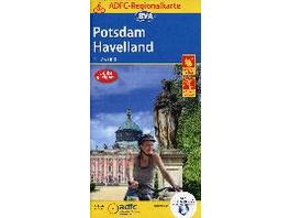 ADFC-Regionalkarte Potsdam Havelland, 1:75.000, re