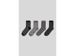 Socken - Bio-Baumwolle - 4 Paar - gestreift