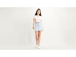 High-Waisted Deconstructed Skirt